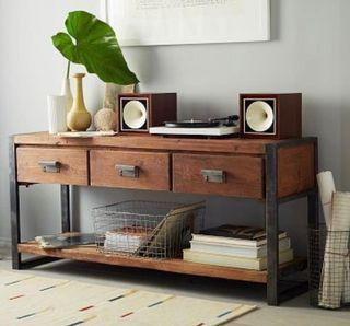Mueble consola industrial cajones