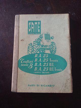 CATALOGO PIEZAS RECAMBIO TRACTOR SAME DA 25 1956