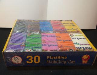 1,5 kg plastilinas (10 colores)