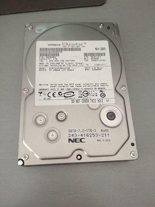 """disco duro Hitachi 1 TB 3.5"""" Sata2"""
