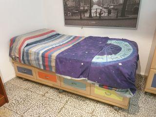 cama con cajones 1,9 x 9