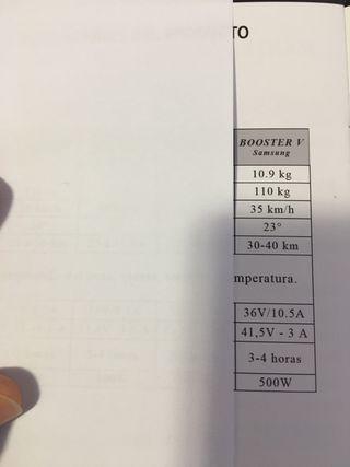 Patinete eléctrico E-twow V 36V 10,5A