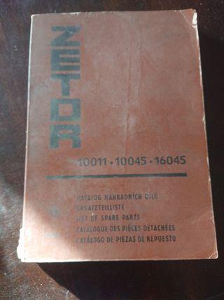 CATALOGO PIEZAS RECAMBIO TRACTOR ZETOR 1978
