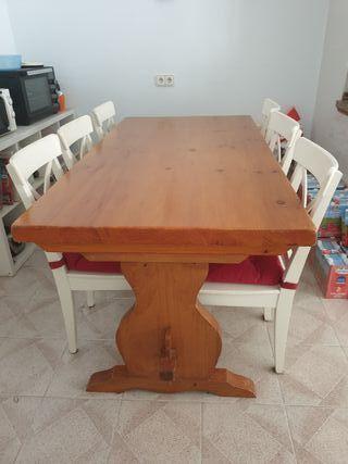mesa madera maciza 177x91