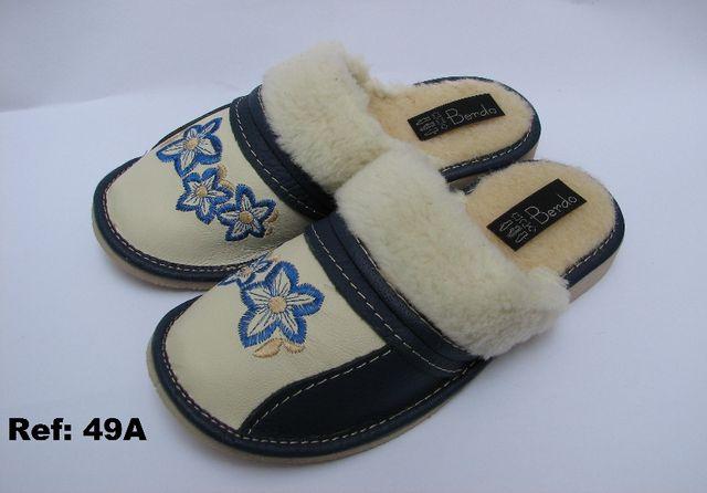 REBAJAS !! Zapatillas de PIEL NATURAL 100% + LANA