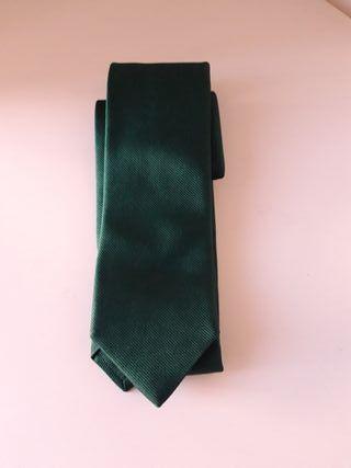 Corbata verde Soloio