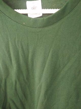 camiseta algodón sin estrenar verde botella XL