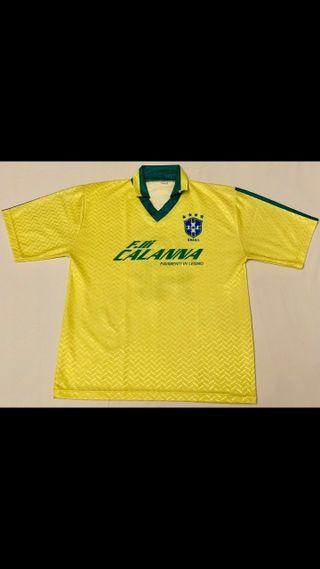 Camiseta futbol retro vintage brasil