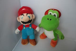Peluche Mario Bros y Yoshi