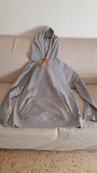 Sudadera con capucha polar gris Decathlón XL