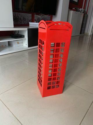 Paragüero estilo cabina de telefonos Londinense