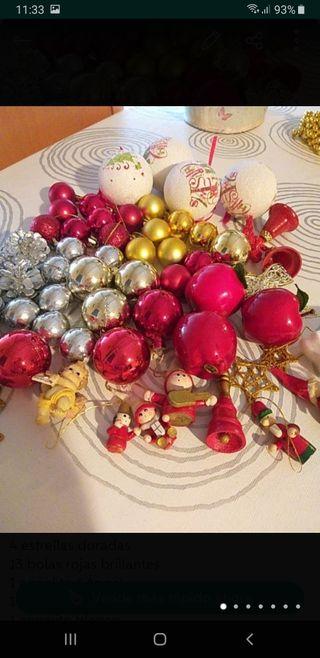 super lote 60 adornos árbol de Navidad.