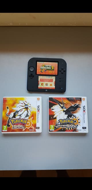 Nintendo 2ds + Pokemon Sol y Ultrasol +Super Mario