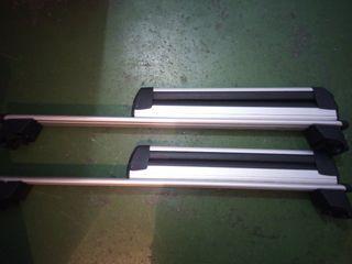 barras y porta-esquis Thule con llave