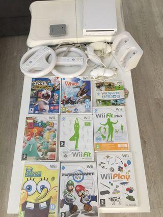 Wii +9 juegos+balance board+accesorios