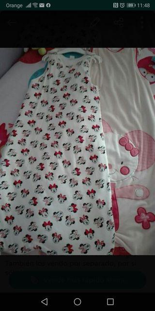 Lote de dos sacos de dormir 6/24 meses