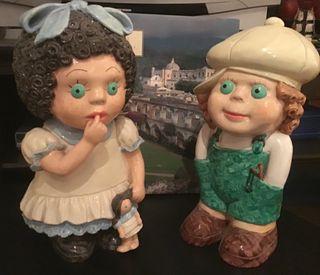 Pareja de muñecos de ceramica