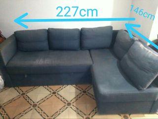 Vendo sofá cama cheslong/esquinero