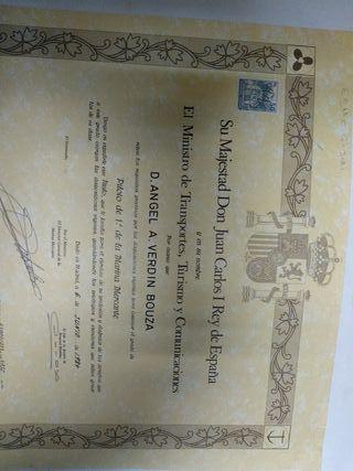 Título Oficial Marina Mercante