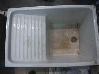 Lavadero ceramico blanco 44x66x36