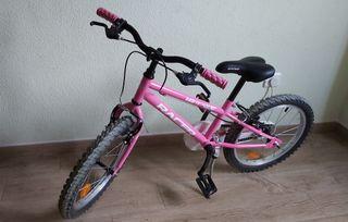 Bicicleta niña de 16 pulgadas