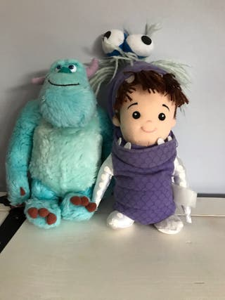 Lote peluches Monstruos S.A