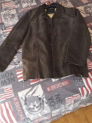 Abrigo chaqueta cazadora de piel de hombre