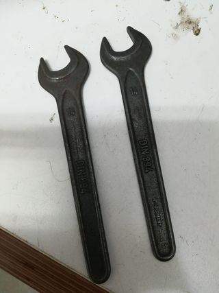 2 llaves antiguas de 14mm
