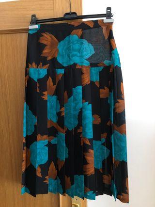 Falda estampada plisada