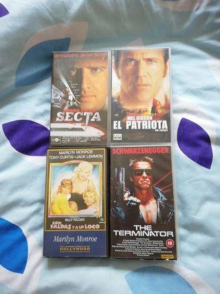 4 películas VHS. originales.