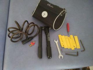 bolso para bicicletas con accesorios
