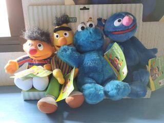 Pack peluches Epi, Blas, Cookie Monster y Coco