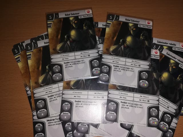 cartas promocionales IMPERIAL ASSAULT