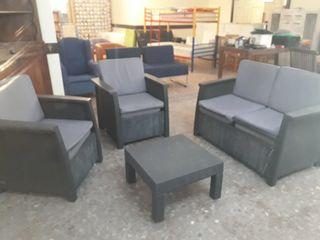 Muebles de jardín de mimbre