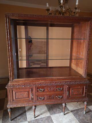 mueble vitrina salón comedor antiguo