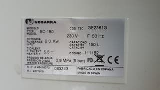 TERMO ELÉCTRICO 150 LITROS
