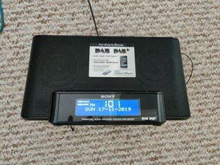 Sony DAB radio and alarm clock, with aXtreme bass