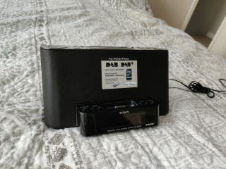 Sony DAB radio and alarm clock, with aXtreme bass
