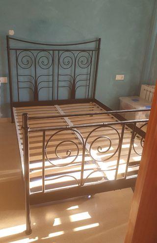 Extructura cama hierro forjado vintage