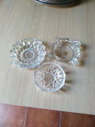 3 ceniceros cristal