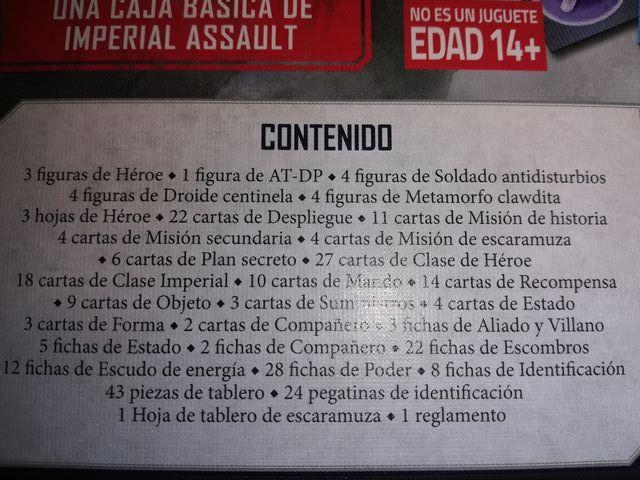 IMPERIAL ASSAULT EL CORAZÓN DEL IMPERIO.