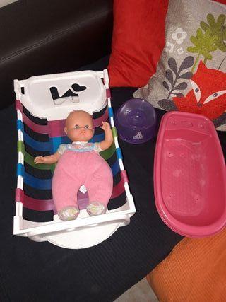 Mi primer Nenuco- cuna- bañera- orinal juguete