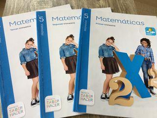 Libros de texto Matemáticas, 5º primaria.