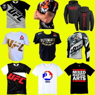 CAMISETAS MMA KICK BOXING MUAY THAI BJJ CROSSFIT