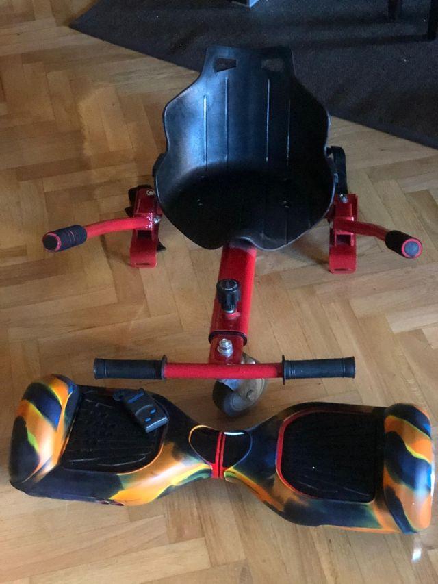 kit Hoverboard con bloothood y silla