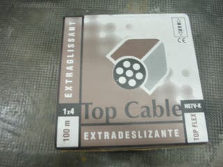 Rollo de cable unifilar 1x4mm negro