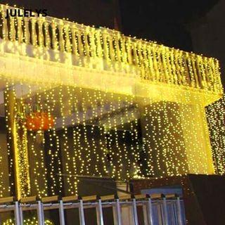 Cortina LED tipo cascada 8x1.5m