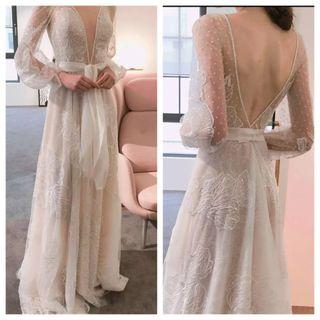 Precioso Vestido de novia Artesanal . alta calidad