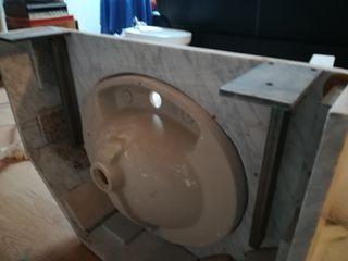 lavabo con mármol