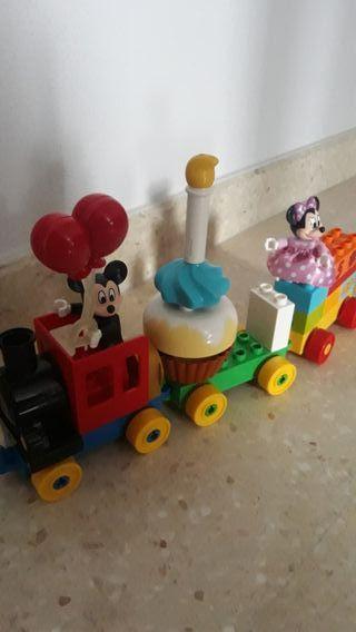 lego duplo.Tren de cumpleaños Mickey y minnie mous